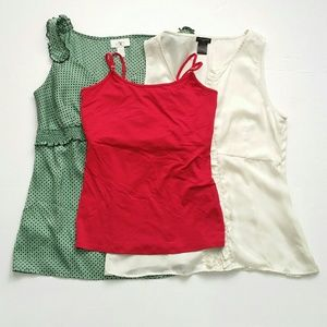 Ann Taylor WHBM Blouse Lot Size 4 Green Red